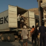 002   First container of planks from Ghana arrives