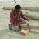 019   Babu Sankaran begins shaping the spars