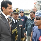 002   Oman's Ambassador to India, and Oman's Military Attache wish Capt Saleh well