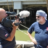 012   Dr. Tom Vosmer speaking to National Geographic film-maker Mike Lithgow