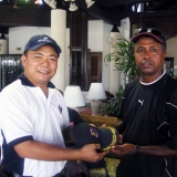 155   Kamis Al Hamdani receives a gift from Captain