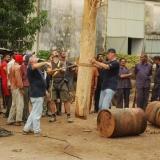 06   كل صاري مصنوع من خشب الساج يزن ثلاثة أرباع طن