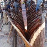 106   Fitting the keelson inside the hull