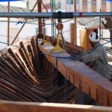 107   Fitting the keelson inside the hull