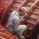 062   Painting inside the ship with fish oil