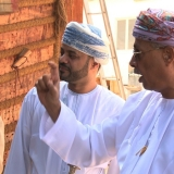 050   HE Abd al-Aziz and Sayyid Badr visit Jewel of Muscat construction site