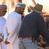 049   Construction Director, Tom Vosmer, shows Jewel of Muscat to HE Abd al-Aziz and Sayyid Badr