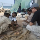 089   The trainees are coached in making rigging