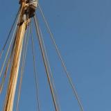 127   Luca Belfioretti climbs the mast to disentangle ropes