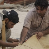 082   The trainees are also working on the canvas sails