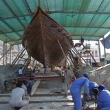 002   A frame is being built round the ship