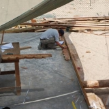 026   Eric Staples, Documentation Manager, measuring a futtock frame