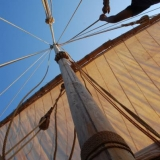 012   The sails prove easy to hoist