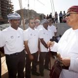 033   H.E. Abdul Aziz Rawas meets the crew