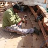 070   Babu Sankaran works on the final touches