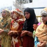175   Omani women in traditional dress salute the crew