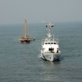 179   Jewel approaches Cochin under tow by the Indian Coast Guard.