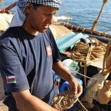 038   Master Rigger Said Al Tarshi demonstrates his knot-tying skills