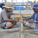 082   Fahad Al Shaibi and Pushpadas Krishnan use bamboo to make a new sweep oar