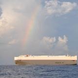 048   Heavy shipping traffic off the Sri Lankan coast