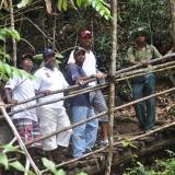 087   Khamis Al Hamdani, Ahmed Al Balushi, Captain Saleh Al Jabri, Yayha Al Faraji and Vishan pause in the rainforest
