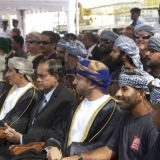 053   The crew sit with Omani and Sri Lankan dignitaries at the official welcome ceremony