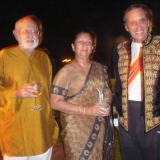 125   Retd Commander Devendra with Governor Southern Province Mrs. Kumari Balasooriya & Geoffrey Dobbs at a farewell party for Jewel a