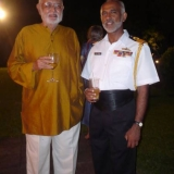 126   Commodore Perera with Retd Commander Devendra at a farewell party for Jewel at Sun House