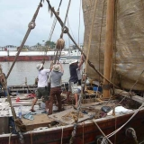 133   Preparing the Jewel the day before sailing