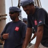 005   Captain Saleh Al Jabri and Sajid Valappil on board the Jewel