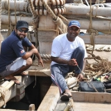 046   Ayaz Al Zadjali and Hussein Al Raisi mend some rigging