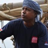 008   Khamis Al Hamdani looks forward to the next leg of the voyage