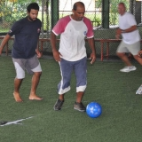 049   Ahmed Al Balushi leads his team in a friendly--but deadly serious--game of football