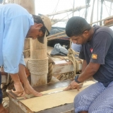 021   Said Al Tarshi and Yahya Al Faraji measure canvas