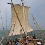 032   Sailing on brisk winds at last