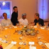 103   It's all smiles at the table of Omani and Singaporean diplomats