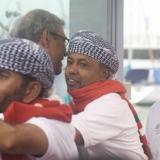 068   H.E Sayyid Badr and H.E Zainaul Abidin Rasheed welcome Capt Saleh and the crew