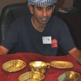 120   Capt Saleh with the treasure carried by the very ship on which Jewel is based.