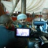 029   H.E. Sayyid Badr talks to the media