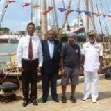065   Deputy Harbour Master, Capt. Rohith Fernando, Capt. Saleh & Commodore P.A.D.R. Perera, Commander Southern Naval Area