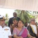 067   Commander of the Sri Lanka Navy with Governor Southern Province Mrs. Balasooriy