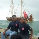 133   Navy Commodore's son Rochana and Capt. Fernando's son Rashmal 12 miles out at sea escorting the Jewel