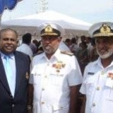 070   Capt. Fernando with Commander of Sri Lanka Navy and Commander Southern Naval Area