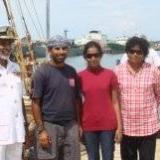 071   Capt. Saleh with Commodore Perera & family