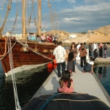 032   Submitted by Mike LeFroy: 'A group from Singapore visit the Jewel of Muscat before she sets out on her historic voyage'