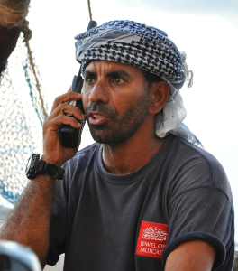 DSC_0171 Captain Saleh Al Jabri on phone cropped