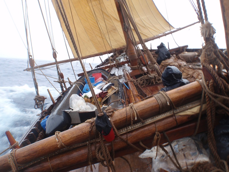 The storm sail gives us speed and safety